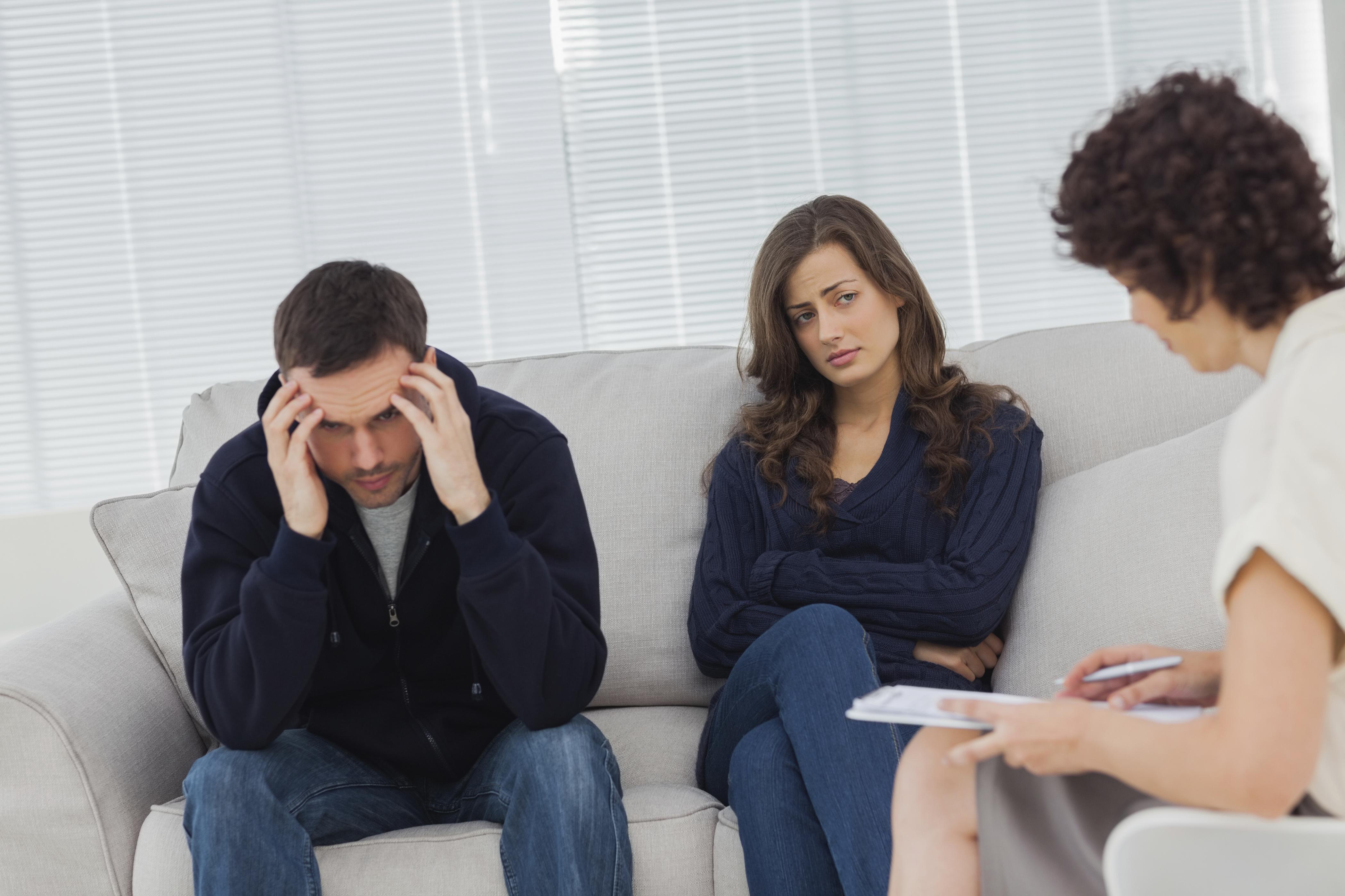 Couple going through a divorce