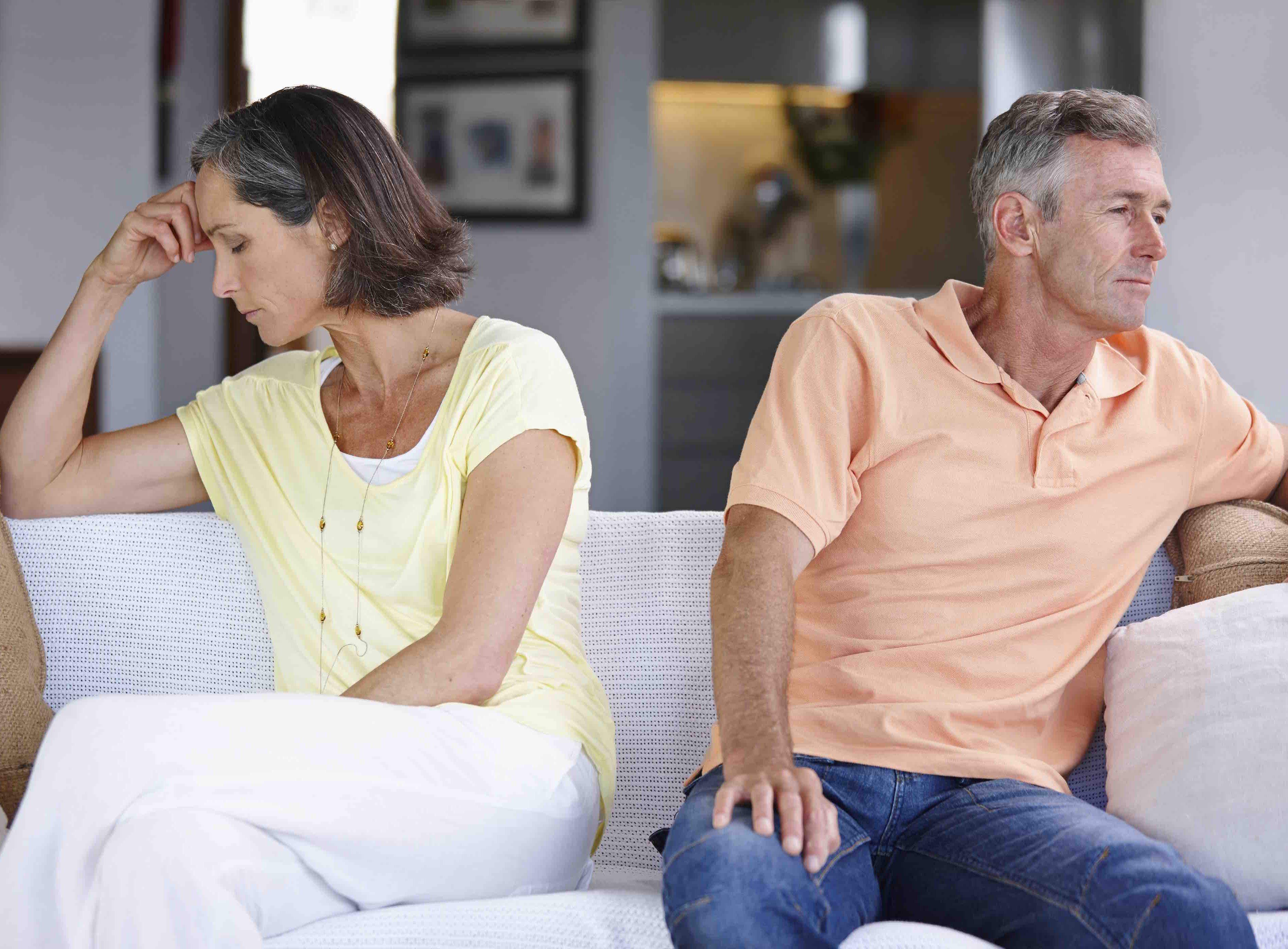 Cohabiting couple facing relationship breakdown